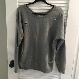 Express Distressed Sweatshirt